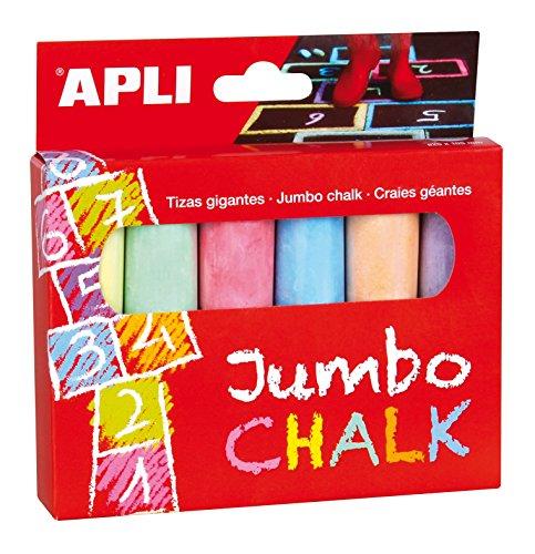 Apli- Boîte de 6 craies de Couleur géantes, 14367, Multicolore