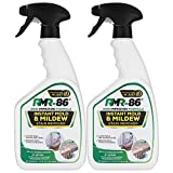 RMR-86 Instant Mold and Mildew Stain Remover Spray - Scrub Free Formula, Bathroom Floor and Shower Cleaner, Odor Removal, 2-32 Fl Oz bottles