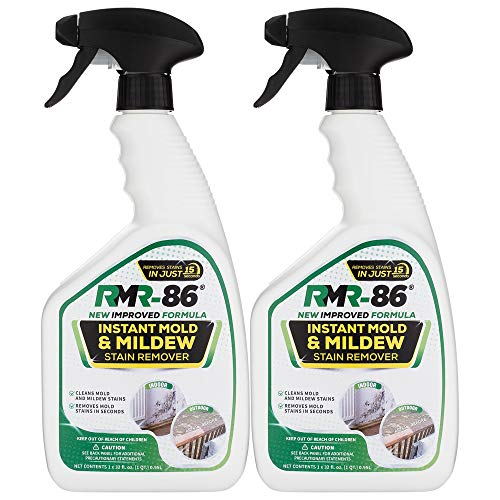 RMR-86 Instant Mold and Mildew Stain Remover Spray - Scrub Free Formula, Bathroom Floor and Shower Cleaner, 2-32 Fl Oz Bottles