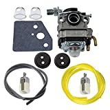 Hipa Carburetor + Primer Bulb Fuel Line Filter Grommet for Honda GX22 GX31 Engine FG100 HHE31C HHT31S UMK431 UMK431K1 String Trimmer Brushcutter
