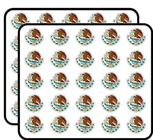 Mexico Coat of Arms Art Decor Sticker for Scrapbooking, Calendars, Arts, Kids DIY Crafts, Album, Bullet Journals 50 Pack