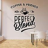 HGFDHG Cita calcomanía de Pared café y café de Amigos Cafe Bar Cocina decoración de Interiores Vinilo Pegatina de Ventana Mural Creativo
