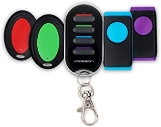 Key Finder Wireless RF Item Locator Remote Anti-Lost Items Gift Gadgets ABS Material with 2 Key Ring Receivers and 2 Flat Receivers Suit for Personal Use by Vodeson