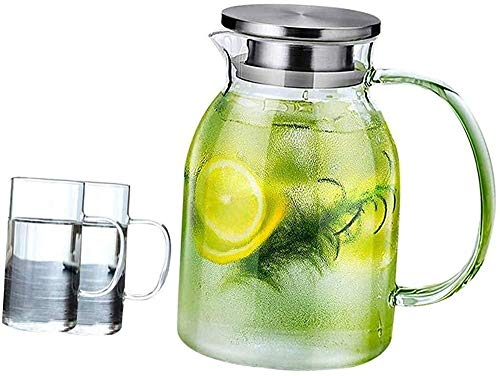 Tetera de vidrio, con una tetera de gran capacidad duradera, muy adecuada para vino, leche, agua fría, café caliente, hervidor de restaurante, 12.5×16cm