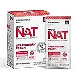 Keto//OS NAT Strawberry Peach Keto Supplements – Caffeine Free - Exogenous Ketones - BHB Salts...