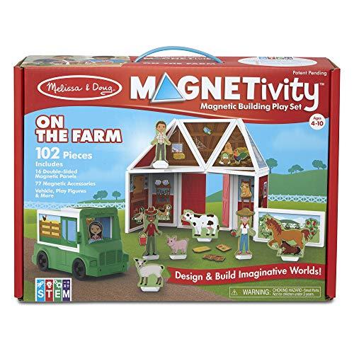 Melissa & Doug Magnetivity Magnetic Tiles Building Play Set  On the Farm