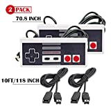LLGO NES Classic Controller,Nintendo Mini NES Classic Edition with 2 Pack of 10FT Extension Cables, 6FT Nes Mini Classic Cotrollers for Retro Games