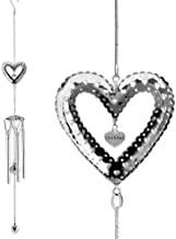 BANBERRY DESIGNS Grandma Garden Windchimes - Silver Heart Design Sun Catcher Metal Ball - Garden Chimes - 35