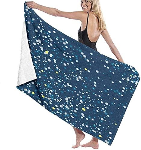 LUYIQ Asciugamano da Spiaggia in Microfibra,Asciugatura Rapida Telo Mare -Bellissimi scintillii di neve che cade-70x150CM,Sottile Teli Asciugamano Mare per Yoga, Piscina,Bagno