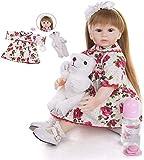 48 Cm de Silicona Suave Reborn muñecas de Tela Cuerpo fantasía Princesa bebé niña muñeca de Juguete muñeca Boneca cumpleaños para niños Playmate Mejor