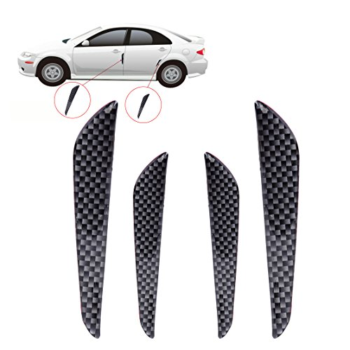 Black ZaCoo Car Door Edge Guards Anti-Scratch Protector Universal Auto Door Bumper Guard Anti-Collision Protector 4 PCS