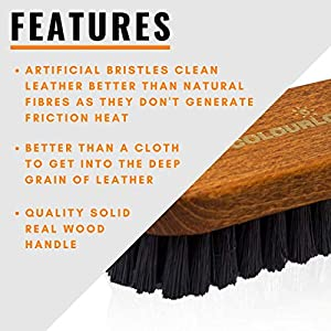 Colourlock Leather & Textile Cleaning Brush | Clean Leather, Textile and Alcantara | for Cars, Furniture, Apparel, Shoes, Bags and Accessories