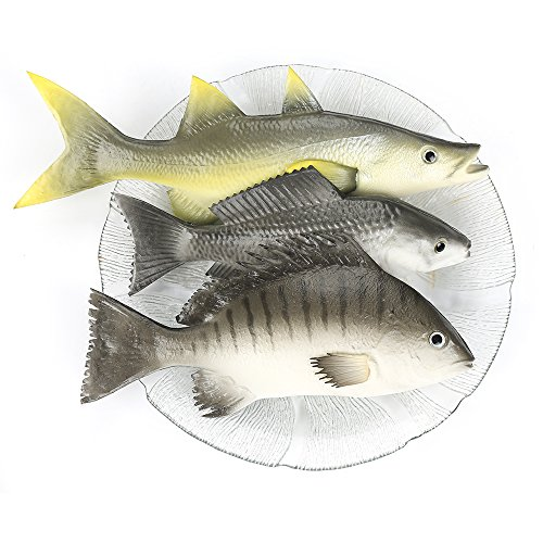 ZUINIUBI Fake Fishes Realistic Fish Playset Model Lifelike Food Prop