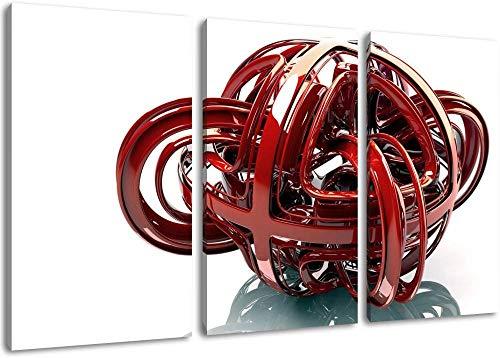 Versaute Rote Kugel Format Dreiteilige Bild Auf Leinwand Bilder Home Decoration Frameless Aufgereiht