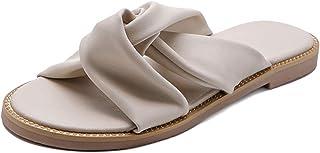 Zanpa Women Casual Summer Shoes Flat Slide Sandals Slip On