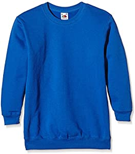 Fruit of the Loom, Sudadera Infantil, Azul (Real), 9-11 Años
