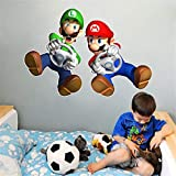 VAINECHAY Wandsticker Kinderzimmer Mädchen Wandtattoo Wandaufkleber Babyzimmer Baby Deko Wohnzimmer Super Mario JBW9139