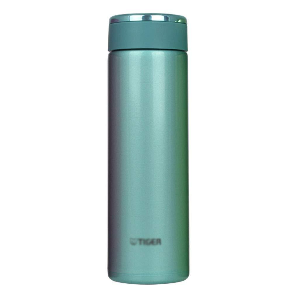 マグボトル 旅行フラスコ、飲むために便利な304ステンレス製真空フラスコ、ポータブル大容量の男性と女性の絶縁カップ480ml (Color : Blue, Size : 480ml)
