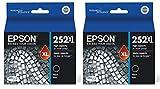 2 X Epson 252XL, Black Ink Cartridge, High Capacity (T252XL120)