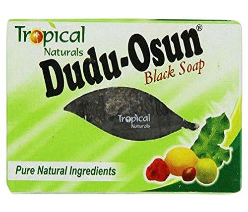 Dudu Osun, Sapone puro, Aroma tropicale, Per la pelle danneggiata, Naturale, Colore: nero, Peso: 150 g