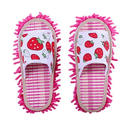 KCCCC Zapatillas de trapeador 2 Pares de Zapatillas de trapeador Microfibra Limpia Zapatillas Zapatillas Desmontables Desmontables para Sala de Oficina Zapatillas de Limpieza de Piso