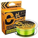 RIKIMARU Monofilament Fishing Line (Fluo-Yellow, 3LB-660Yds)