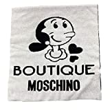 Moschino Bufanda Boutique Olivia Blanco Negro