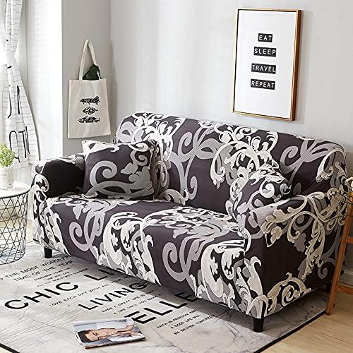 Funda de sofá con Estampado nórdico, Funda de sofá firmemente Envuelta, Funda de sofá elástica elástica de Spandex, Adecuada para el sofá de la Esquina del Asiento A17 de 4 plazas