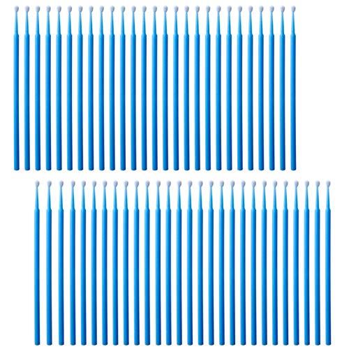 携帯電話充電ポートクリーニングツールキット 曲げられるミニソフトラウンドブラシクリーナー iPhone 11 Proスピーカータブレットカメラ ノートパソコン コンピュータースマートフォンに対応 ブルー 100個パック