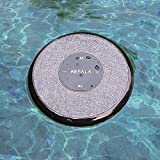 ReFaLa Floating Waterproof Portable Bluetooth Speakers, Conference Call Speaker and Microphone Hands Free for Mobile, Blue Tooth Speaker for Home and Outdoor (Gray)