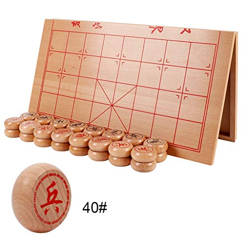 Chess Traditional Chess Wooden Chinese Chess Set Folding Chess Board to Send Children's Student Elder's Best Gifts Game ( Color : B )