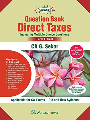 Question Bank on Direct Taxes, including Multiple Choice Questions