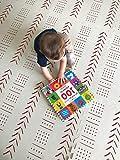 CUA CUA playmat tapete armable foamy para niños niñas y bebes. Libre de toxicos colores neutros. Alfombra para bebes niños Material eva foam foami fomy (Hueso)
