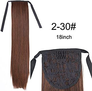 20Inch Synthetic Pony Tail Clip In Pure And Shadow Colorful Hair Extension Synthetic False Hair Heat Resistant Ponytail 2-30 20inches