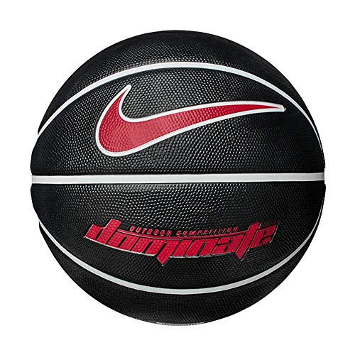 Nike Herren Dominate 8P Basketball, Black/White/White/University RED, 7