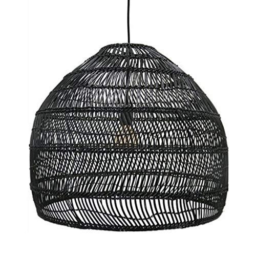 Wylolik DIY hängende Lampe, im japanischen Stil Kreative Handweb Bambus Rattan Wicker Laterne Kronleuchter Retro Industrie Schlafzimmer Nacht E27 Beleuchtung Kronleuchter Kücheninsel Pendelleuchten