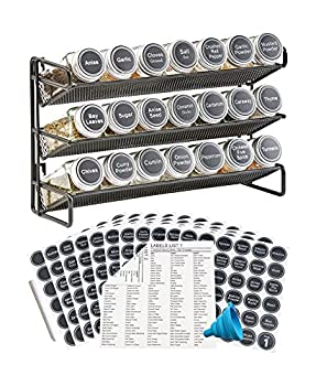 Best spice rack with jars Reviews