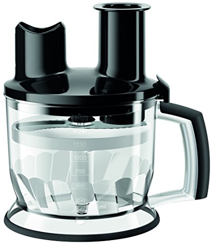 professional Hand Blender Multiquick Braun MQ70BK Kitchen Machine Attachment, 6 Cups, Black