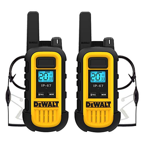 DEWALT Dxfrs300 1W Walkie Talkies Heavy Duty Business Two-Way Radios (2 Pack) with 2 Dxfrssv01...