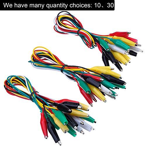 30 Piezas Cables de Prueba con Clip Cocodrilo