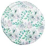 Brandseller - Set di 2 cuscini rotondi, diametro: 40 cm x 3 cm, motivo floreale vintage