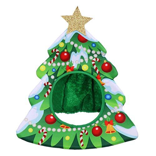 shenlanyu Sombrero de Pap Noel Decoraciones de Navidad Cosplay Fiesta de Danza Fiesta Rendimiento Props Headgear Sombrero de Navidad 1