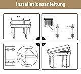 Homewit 30L Mülleimer, W262* D490* H420 mm ausziehbarer metaller Küchenabfalleimer, 3 Abfalleimer für Mülltrennsysteme, 3x10L Einbaumülleimer, Deckelheber, Bodenmontage, Ideal für Küche Bad und Büro - 8