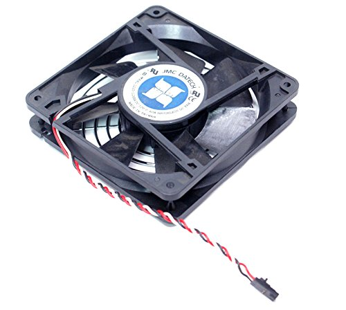 Genuine Dell JMC DATECH 1225-12HBA 09946 PowerEdge 2300 2400 2800 120mm x 25mm Case Cooling Cool 3-Pin Internal Fan Compatible Part Numbers: 4710NL-04W-B59, 09946, 1225-12HBA, 1202611-4, 1225-12HB