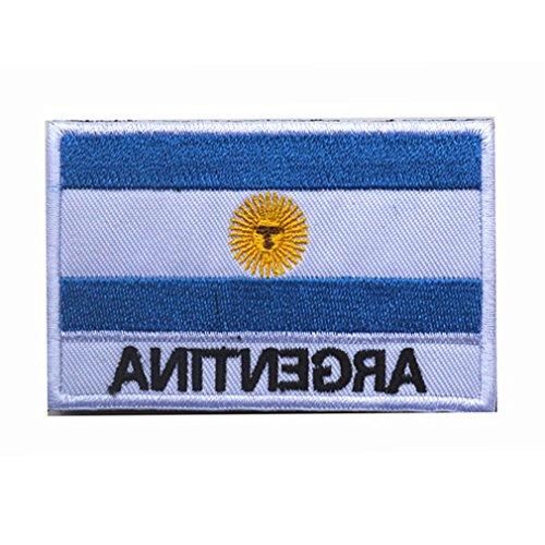 Aufnäher mit Argentinien-Flagge, bestickt, Militär, taktische Flagge.