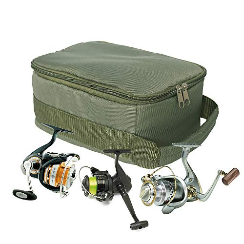 SHADDOCK釣りバッグリールケーススピニングリールベイトリール用スプールケースジッパー付き大容量