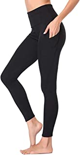 High Waist Yoga Pants with Pockets for Women - Tummy Control Workout Running 4 Way Stretch Yoga Leggings