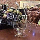 LOCGFF Weinkaraffe, 100% mundgeblasene bleifreie Kristallglas-Weinkaraffe, Rotweinkaraffe, perfekt für Hochzeits- und Einweihungsgeschenke - 5