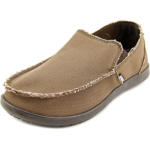 Crocs Men's Santa Cruz Loafer | Comfortable Men's Loafers | Slip On Shoes, Espresso/Espres, 8 US Men