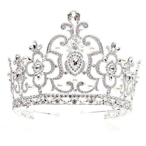 YWSZJ Tiara de la Corona de la Vendimia de Lujo joyería Venda cristalina de Pelo Retro del Rhinestone señoras de Las Muchachas del Partido Nupcial del Desfile de la Boda de la Princesa cumpleaños con